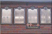 SK3635 : Rolls of Honour, Derby Midland station. by Robin Stott