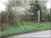 TL9875 : Footpath And Gate by Keith Evans