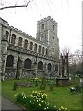 TQ2475 : All Saints, Fulham: spring in the churchyard (b) by Basher Eyre
