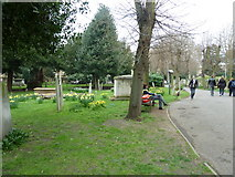 TQ2475 : All Saints, Fulham: spring in the churchyard (d) by Basher Eyre