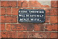 SK3538 : Warning sign, Darley Abbey by Chris Allen