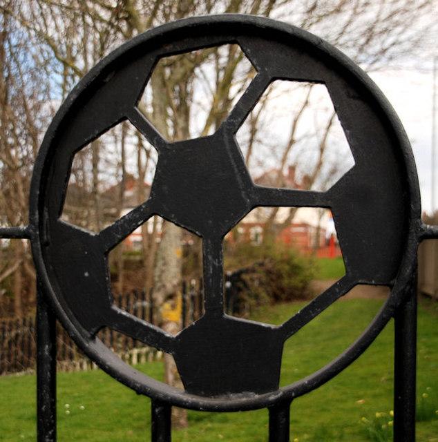 """""""Football"""" gate, Belfast"""