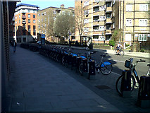 TQ3279 : Cycle docking station on Long Lane by Stephen Craven