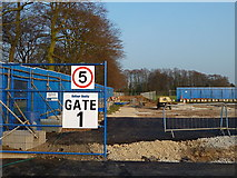 SJ7886 : Major building work on the playing fields of St Ambrose College by Anthony O'Neil