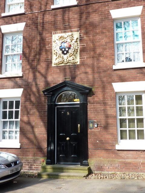 Doorway of No 8 Vicarage Place, Prescot