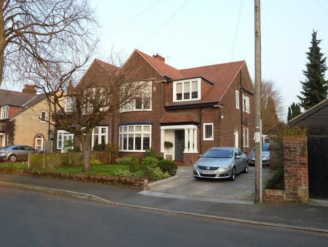Semi-detached houses in Grange Avenue, Hale, Cheshire