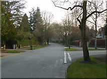SJ7886 : Junction of Hill Top and Hargate Drive, Hale, Cheshire by Anthony O'Neil