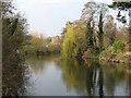 SK3538 : Reflections in the Derwent near Darley Abbey by John Sutton