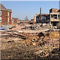 SK9871 : Lincoln County Hospital, Lincoln - Panorama 1 #2 of 2 by Dave Hitchborne