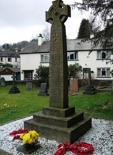 War memorial, St Andrew's churchyard, Coniston