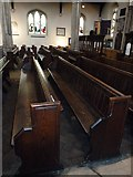 TQ2475 : All Saints, Fulham: pews by Basher Eyre