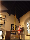 TQ2475 : All Saints, Fulham: font cover by Basher Eyre