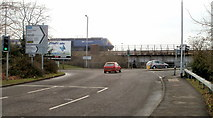 SS7597 : Western end of Riverside Drive, Neath by Jaggery