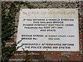 TM3758 : Burnt House Farm Bridge sign by Adrian Cable