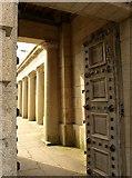 SX4653 : Doorway through Gateway entrance, Royal William Victualling Yard by Derek Harper