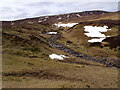 NN6570 : Looking up the course of Allt Choire Leathanaidh near Dalnaspidal by ian shiell