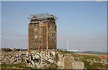 NT6334 : Remedial works at Smailholm Tower by Walter Baxter