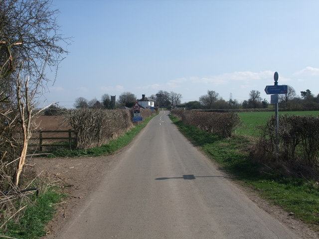 Cycle Route 64 leaving Langford Lane