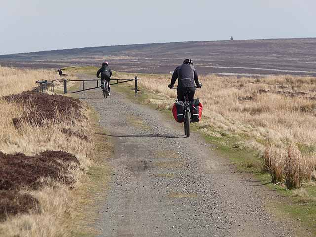 Cyclists on the Waskerley Way