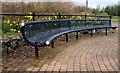 J3581 : Seats, Hazelbank Park, Newtownabbey by Albert Bridge