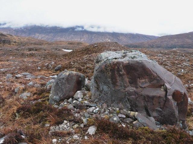 Torridonian sandstone boulder