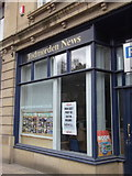 """SD9323 : """"The Todmorden News"""" (Office) Fielden Square, Rochdale Road, Todmorden by Robert Wade"""