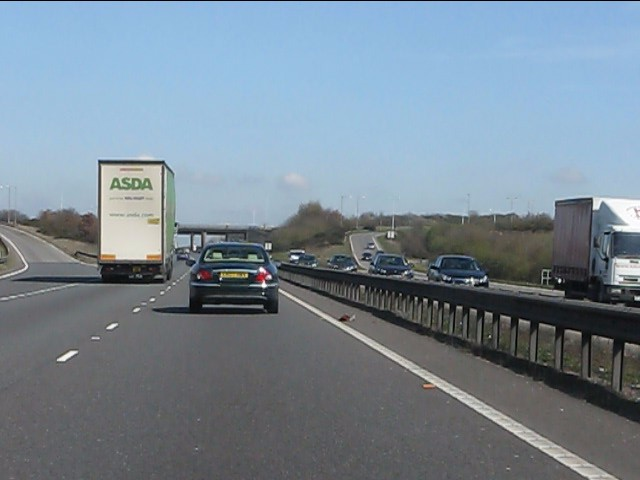 A42 at junction 13 (A511)