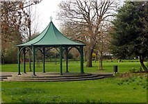 TQ3580 : Bandstand, King Edward VII Memorial Park by Julian Osley