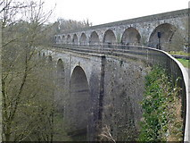 SJ2837 : Chirk Aqueduct and Viaduct by Eirian Evans