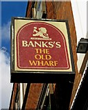 SP0786 : The Old Wharf (2) - sign, 21 Oxford Street, Digbeth, Birmingham by P L Chadwick
