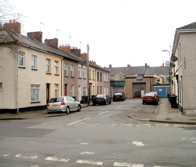 Southern section of Canon Street, Newport by Jaggery