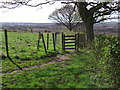 SD7412 : Footpath leading to a ruined farm by Philip Platt