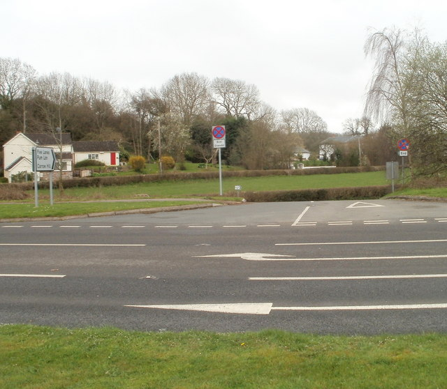 A48 junction for Five Lanes and Carrow Hill, Monmouthshire