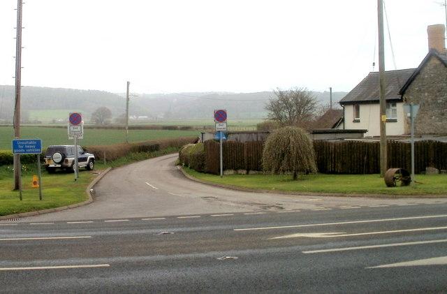 Lane to Llanvair Discoed