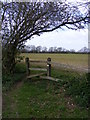 TM3660 : Footpath stile by Adrian Cable