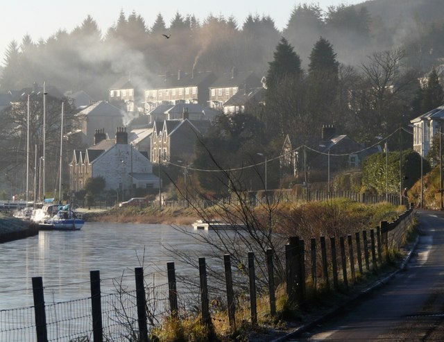 Crinan Canal and West Bank Road
