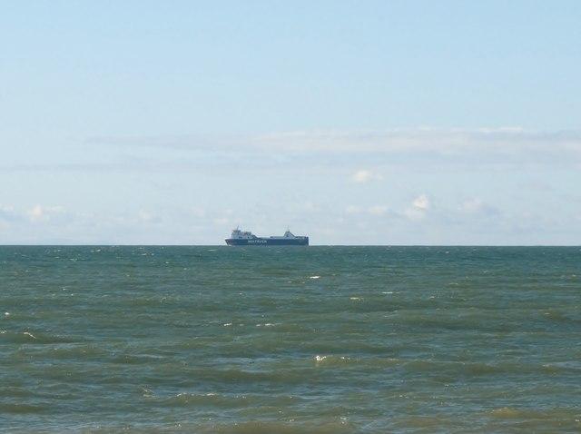 "Seatruck's ""Clipper Panorama""  proceeding north off Kilkeel"
