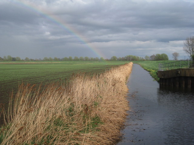 East Ring Drain and rainbow