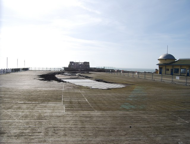 The remnants of the pier