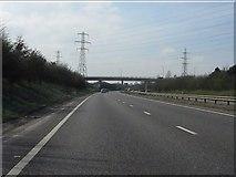SK3030 : A50 approaching Heath Lane bridge by Peter Whatley