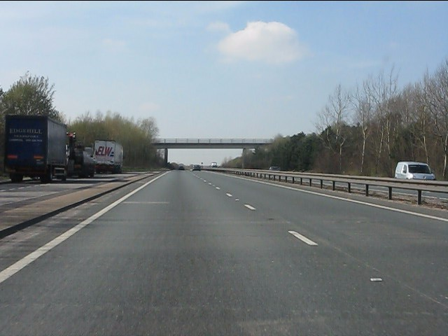A50 - Lay-by and Hoon Lane bridge