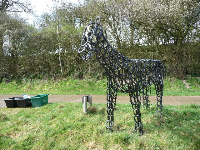 Horse art at Wilderhope Farm