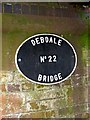 SO8480 : Plaque at Debdale Bridge (No. 22), Staffs & Worcs Canal, near Cookley by P L Chadwick