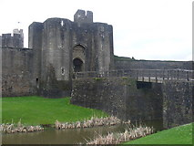 ST1587 : Outer East Gatehouse and Moat by Colin Smith