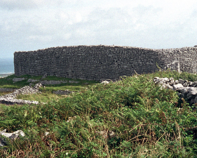 Dun Eochla Stone fort on Inishmore, the Aran Islands