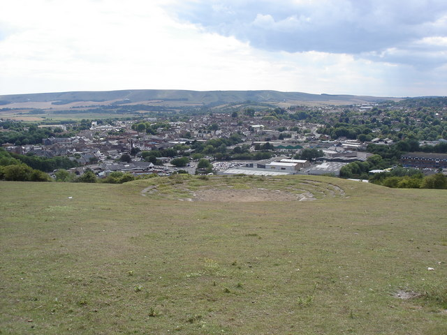 View towards Lewes from Malling Hill