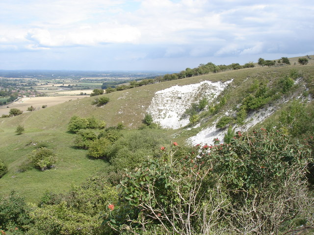 Chalk pit on the north side of Malling Hill