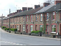ST1587 : Terraced Housing in Caerphilly by Colin Smith