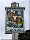 TQ7575 : Cooling: the village sign by Stefan Czapski
