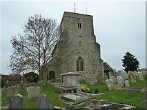 TQ1711 : St. Andrew's, Steyning: church tower by Basher Eyre